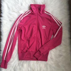 Pink Firebird Adidas Track Jacket Sz S